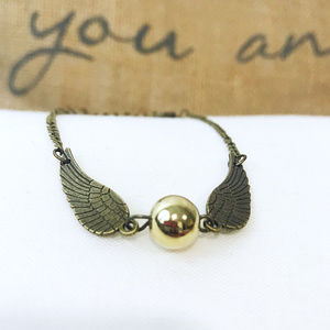 🎀 NEW Harry Potter Golden Snitch Bracelet